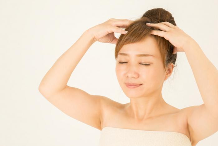 洗頭後的淋巴按摩