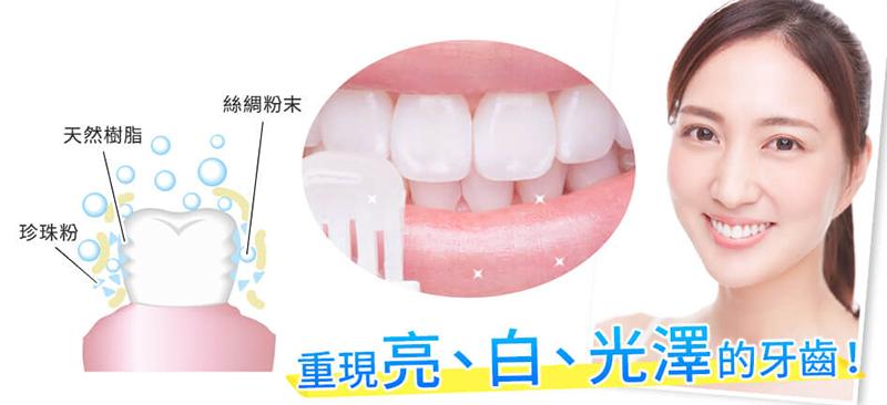 亮白光澤的牙齒