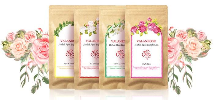 VALANROSE玫瑰錠的4種口味
